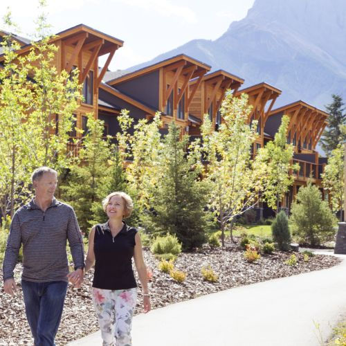 couple Walking in canmore