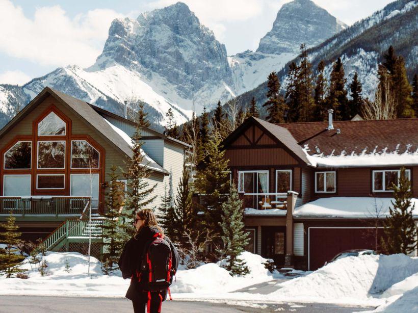 Walking through Canmore, Alberta
