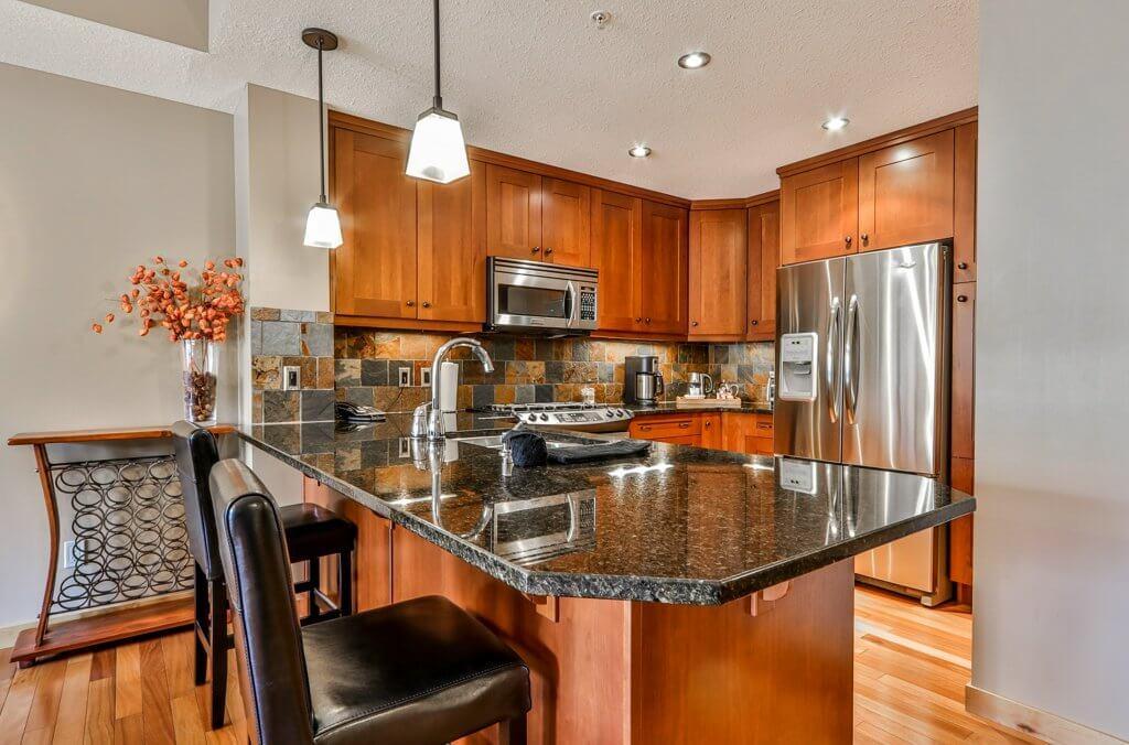 kitchen at #115 Rundle Cliffs Lodge