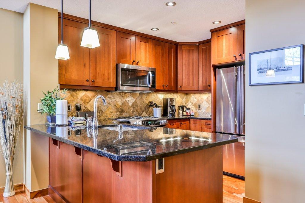 kitchen in #310 Rundle Cliffs Lodge