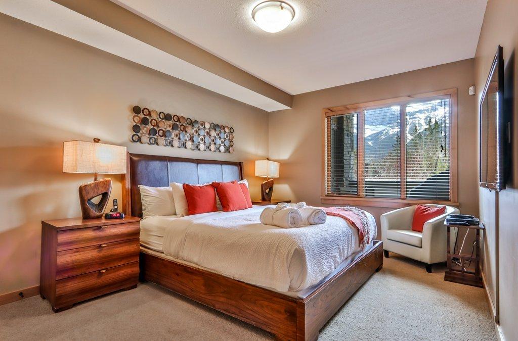 master bedroom at #115 Rundle Cliffs Lodge