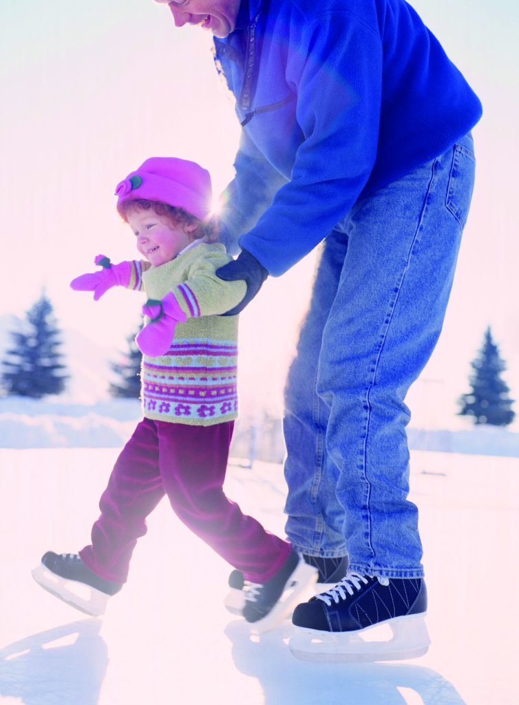 ice skating father daughter