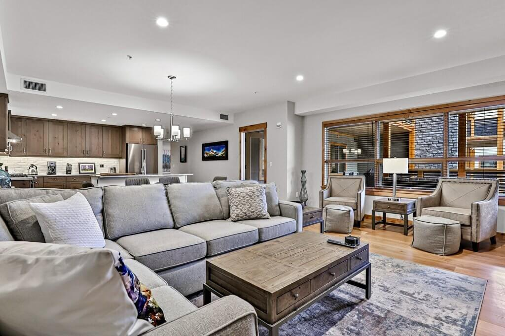 Open-concept living and dining space in a Spring Creek Vacations rental