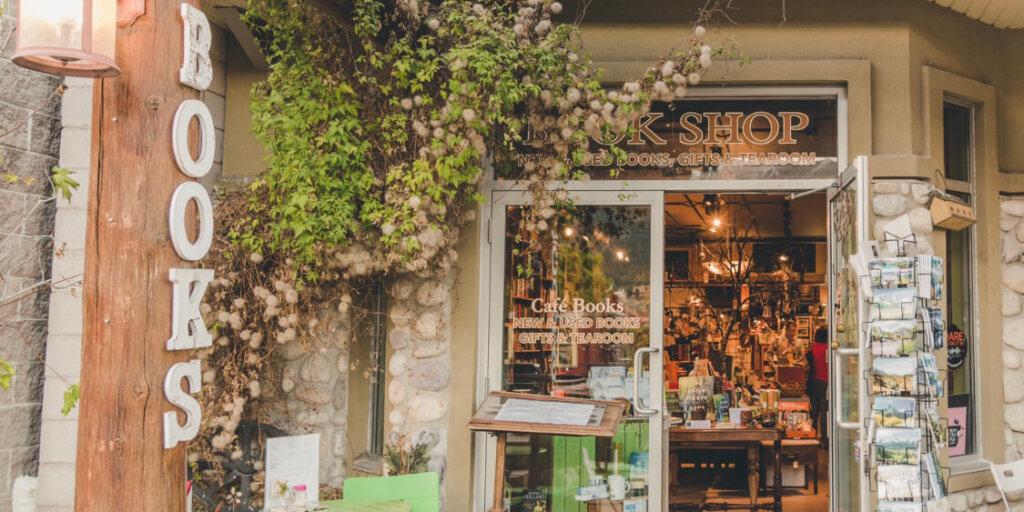 Bookstore front doors